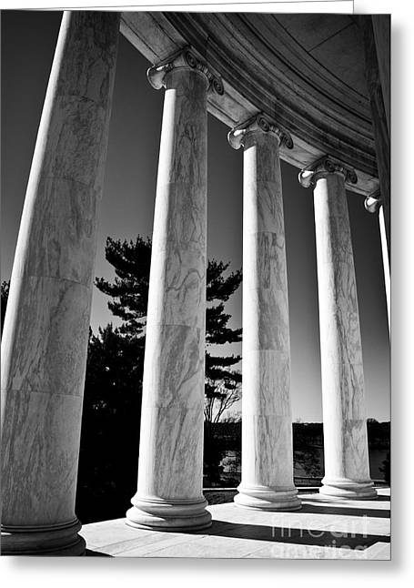 Greeting Card featuring the photograph Thomas Jefferson Memorial by Ken Johnson