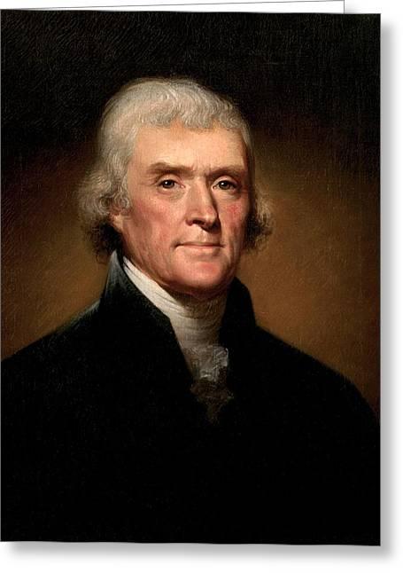 Thomas Jefferson Greeting Card by Georgia Fowler