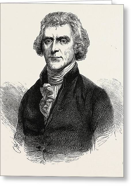 Thomas Jefferson Was An American Founding Father Greeting Card by American School