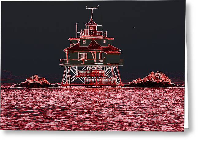 Thomas Point Light House Greeting Card