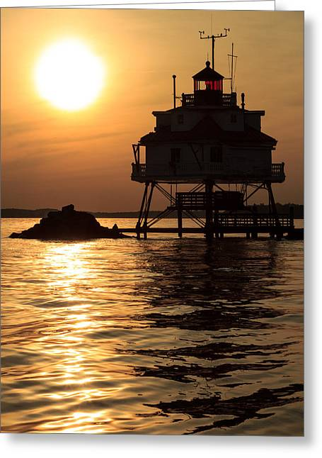 Thomas Point Lighthouse Greeting Card by Jennifer Casey