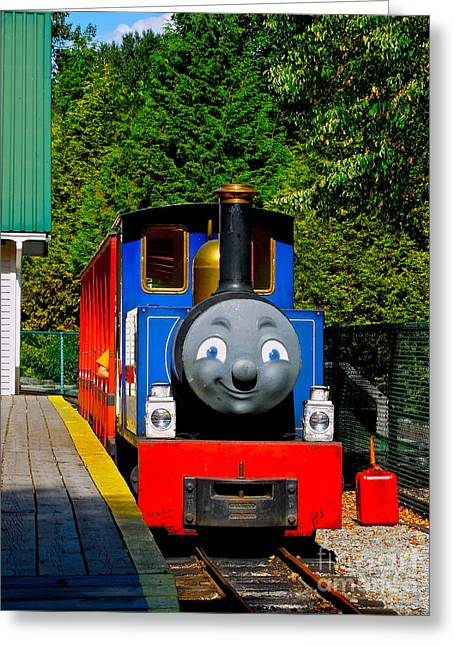 Thomas Greeting Card by Sher Nasser