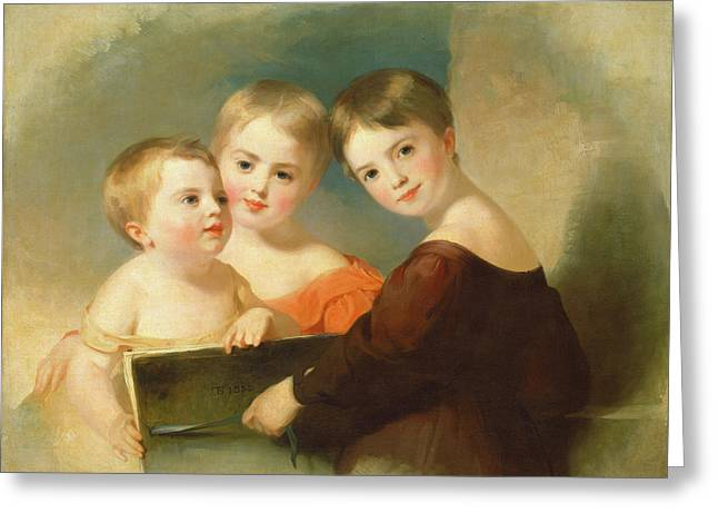 Thomas Sully, The Vanderkemp Children, American Greeting Card by Quint Lox