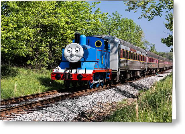 Thomas Visits The Cvnp Greeting Card