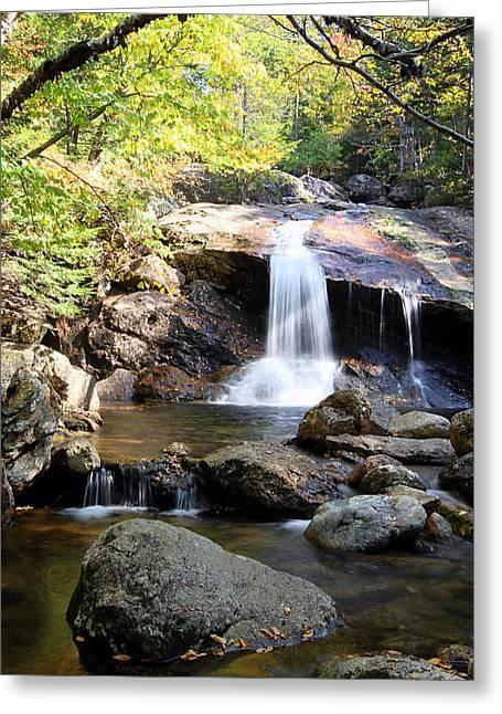 Thompson Brook Falls Greeting Card by Brett Pelletier