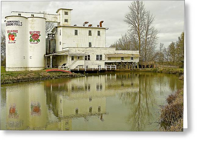 Thompson Flower Mill Greeting Card by Nick  Boren