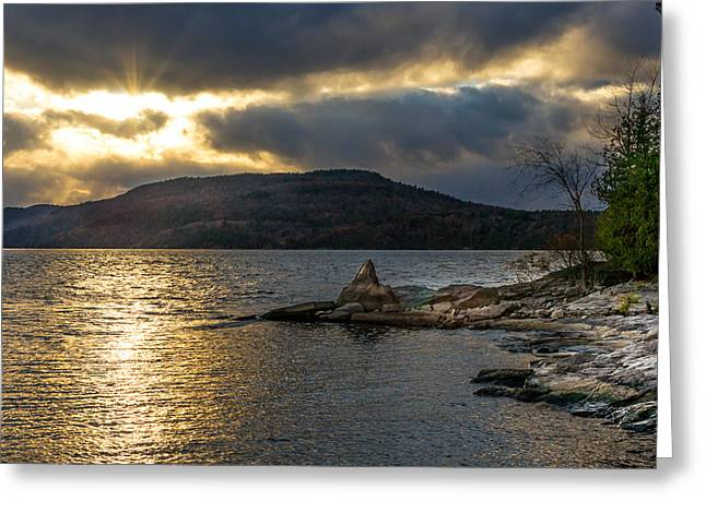 Thompson Point Sunset Greeting Card