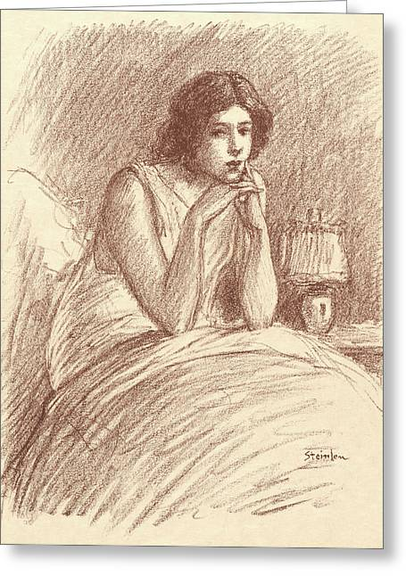 Théophile Alexandre Steinlen Swiss, 1859 - 1923. Morning Greeting Card by Litz Collection