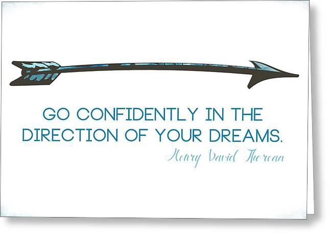 Thoreau Arrow Greeting Card by Nancy Ingersoll