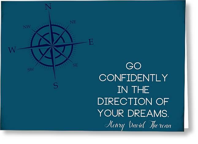 Thoreau Compass Greeting Card