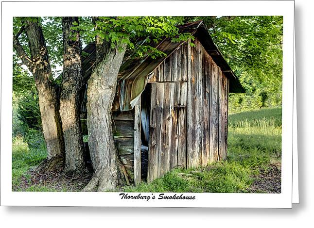 Thornburg's Smokehouse Greeting Card by Terry Spencer