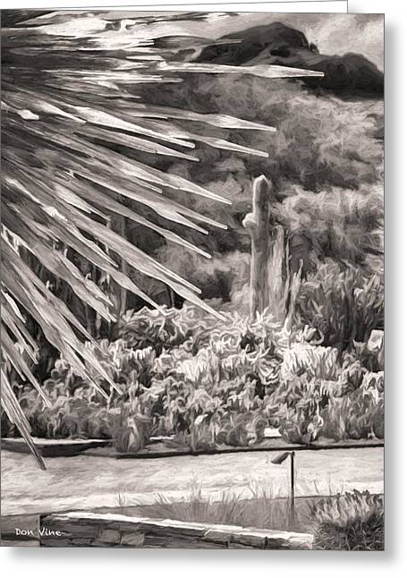 Thorns Of Glass  Bw Greeting Card