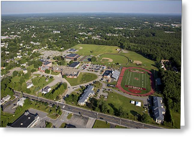 Thornton Academy, Saco Greeting Card by Dave Cleaveland