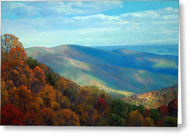 Thornton Gap Overlook Afternoon Greeting Card