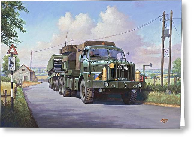 Thornycroft Antar. Greeting Card by Mike  Jeffries