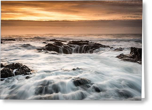 Thor's Well Greeting Card by Mike  Walker