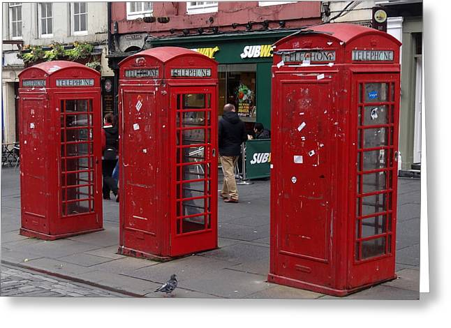 Those Red Telephone Booths Greeting Card