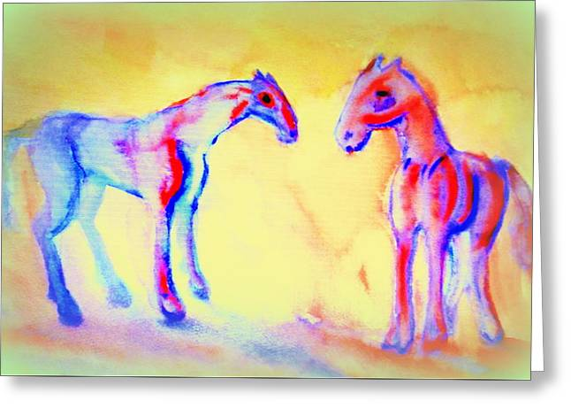 Those Were The Days When We Were Friends And They Will Never Come Back Again Greeting Card by Hilde Widerberg