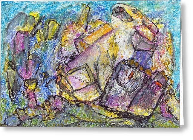 Thoughts About Kandinsky Greeting Card by Yuri Lushnichenko