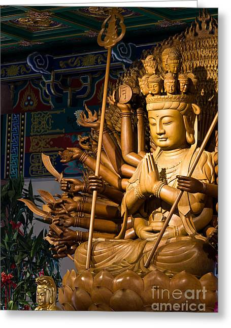 Thousand Hands Of God Image Make Of Wood Carving Chinese Art In  Greeting Card