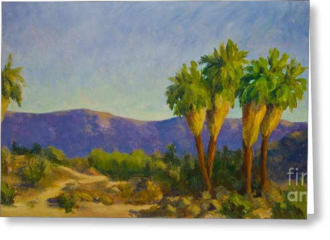 Thousand Palms Preserve Greeting Card by Maria Hunt