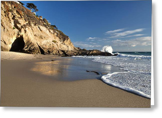 Thousand Steps Beach At Low Tide Greeting Card by Cliff Wassmann