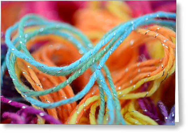Threads Close Up Greeting Card