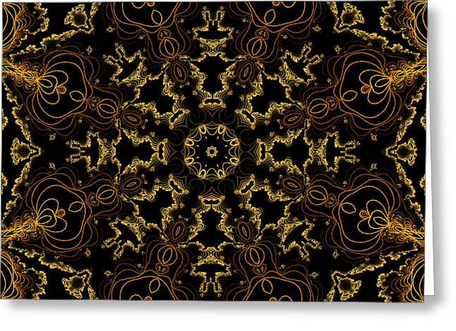 Greeting Card featuring the digital art Threads Of Gold And Plaits Of Silver by Owlspook