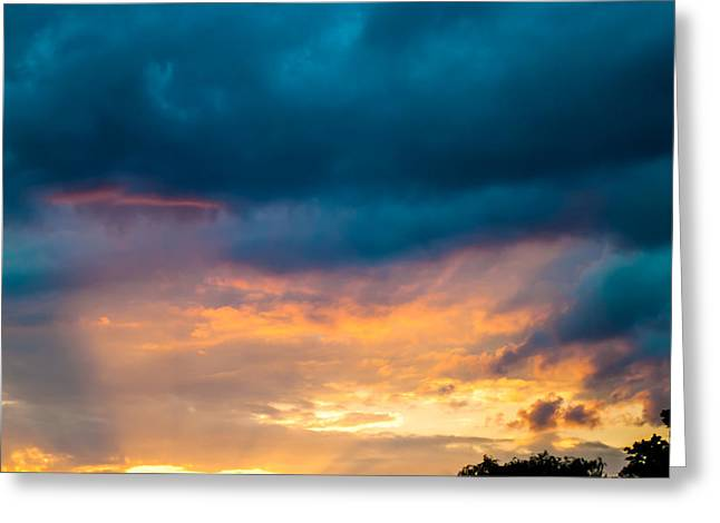 Threatening Skies At Sunset Greeting Card by Optical Playground By MP Ray