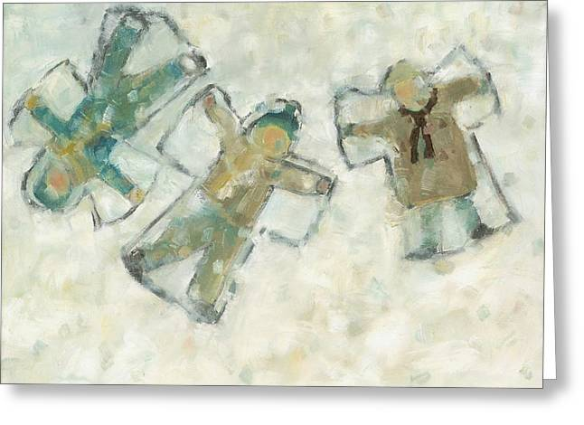 Three Angels Greeting Card by David Dossett