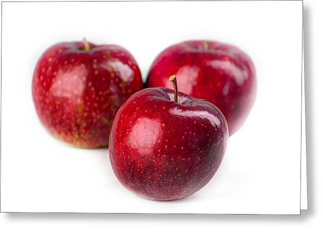 Three Apples Greeting Card by Martin Joyful