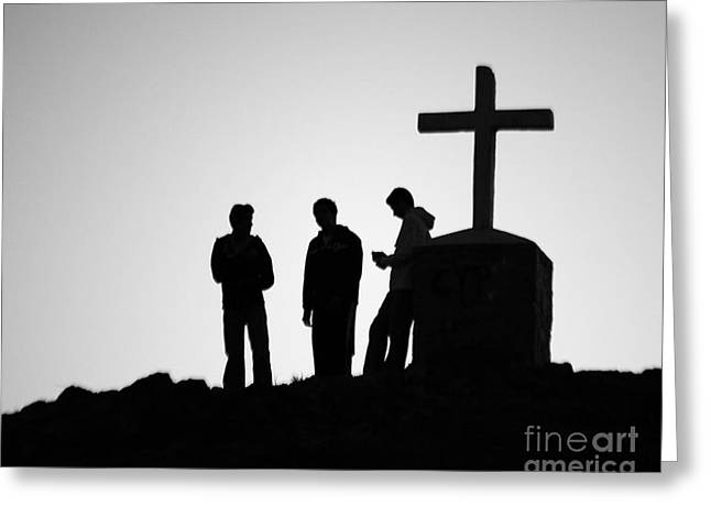 Three At The Cross Greeting Card