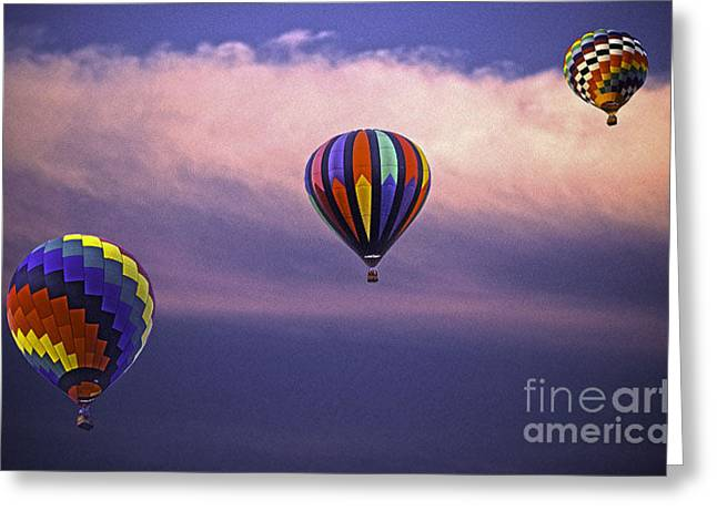 Three Balloons Greeting Card