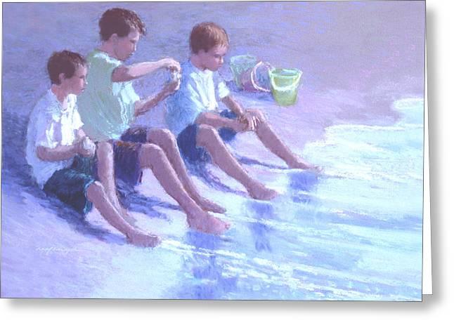 Three Beach Boys Greeting Card by J Reifsnyder