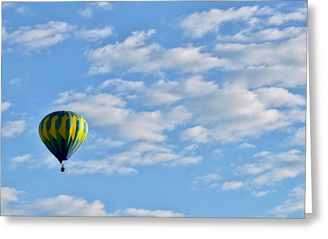 Three Beautiful Balloons In Cortez Greeting Card by Janice Rae Pariza