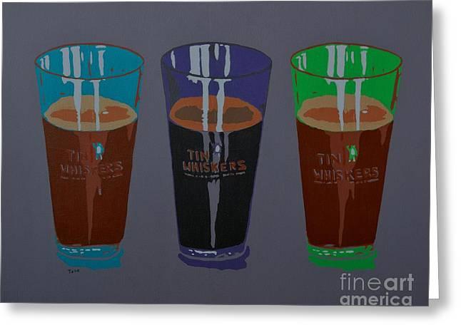 Three Beers Greeting Card