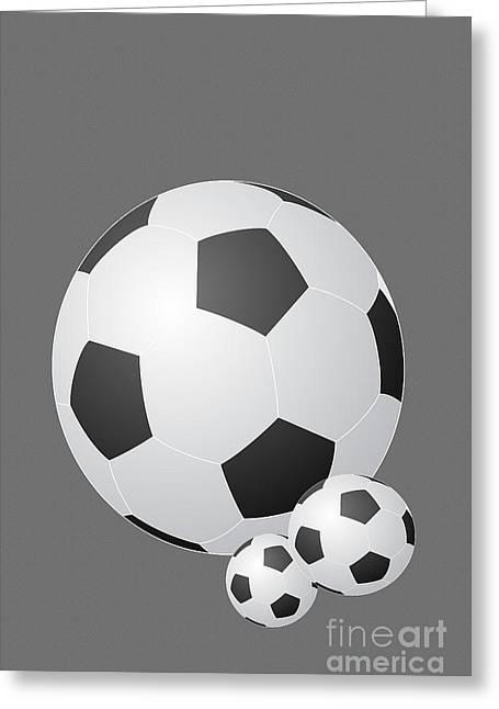 Three Black And White Balls Greeting Card by Tina M Wenger