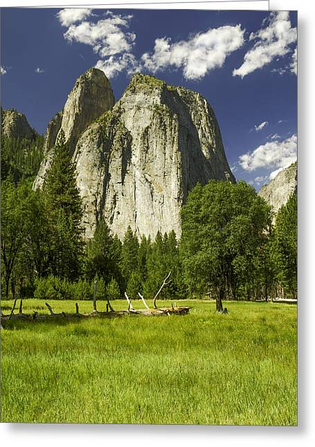 Three Brothers-yosemite Series 07 Greeting Card by David Allen Pierson