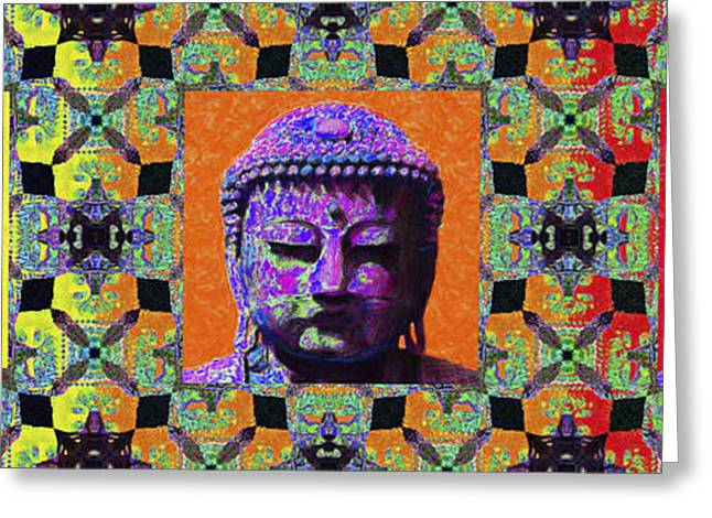 Three Buddhas 20130130 Greeting Card by Wingsdomain Art and Photography