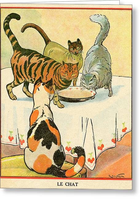 Three Cats (a Siamese, A  Persian Greeting Card