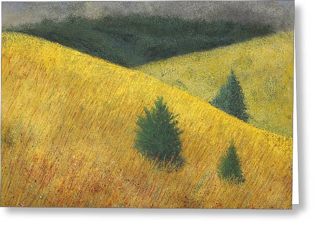 Three Cedars Greeting Card by Garry McMichael