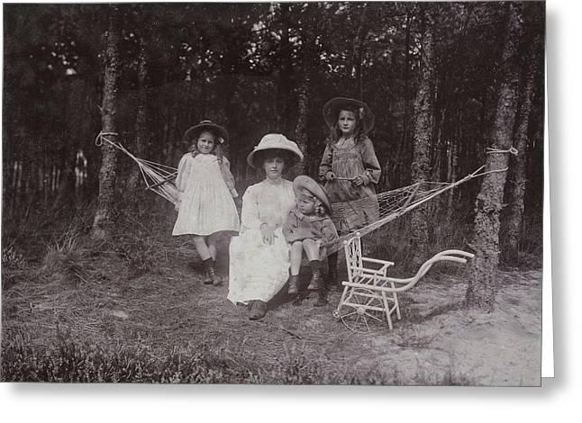 Three Children Of The Photographer, Renée Greeting Card by Artokoloro