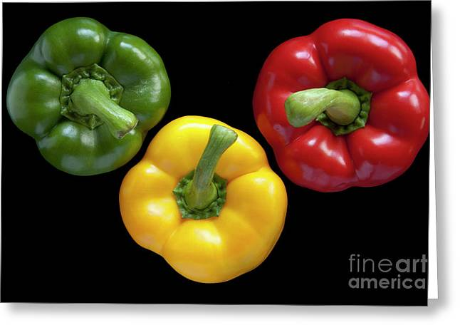 Three Colors Greeting Card by Heiko Koehrer-Wagner