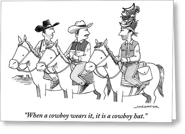 Three Cowboys On Horses Greeting Card