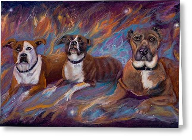 If Dogs Go To Heaven Greeting Card by Sherry Strong