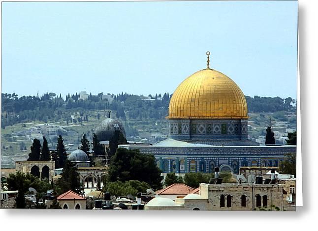 Three Domes Greeting Card by Munir Alawi