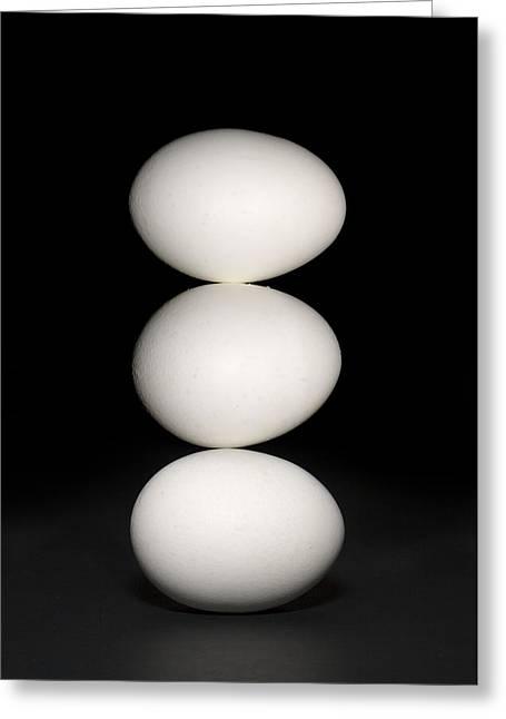 Three Eggs Greeting Card by Alexey Stiop