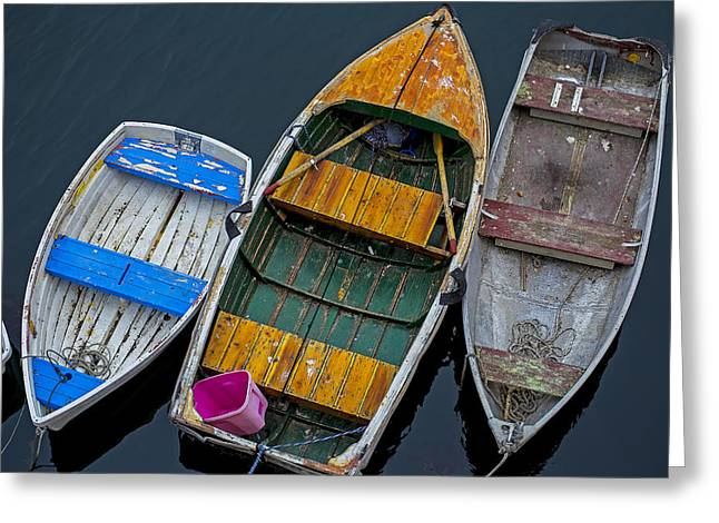 Three Empty Boats  Greeting Card by Garry Gay