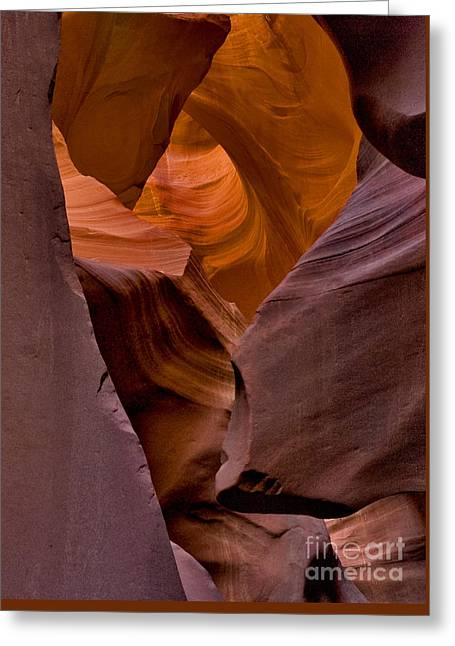 Greeting Card featuring the photograph Three Faces In Sandstone by Mae Wertz