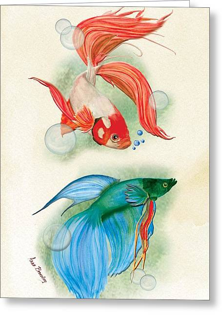 Three Fish Greeting Card